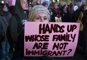 One Day Without Us protest in Parliament Square in support of immigrants and the benefits immigration brings to the UK - Stefano Cagnoni - 20-02-2017