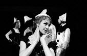 Actor Myvanwy Jenn in Theatre Workshop production of Oh What A Lovely War! directed by Joan Littlewood at Theatre Royal Stratford East 1963 - Romano Cagnoni - 19-03-1963