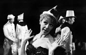 Actor Myvanwy Jenn in Theatre Workshop production of Oh What A Lovely War! directed by Joan Littlewood at Theatre Royal Stratford East 1963 - Romano Cagnoni - 1960s,1963,ACE,acting,actor,actors,actress,actresses,Arts,cities,city,Culture,drama,DRAMATIC,FEMALE,maker,makers,making,musical,Myvanwy Jenn,Oh What A Lovely War,people,person,persons,play,PLAYING,pla