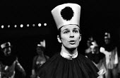 Actor Tony Holland in Theatre Workshop production of Oh What A Lovely War ! directed by Joan Littlewood at Theatre Royal Stratford East 1963 - Romano Cagnoni - 1960s,1963,ACE,acting,actor,actors,Arts,cities,city,Culture,drama,DRAMATIC,maker,makers,making,male,man,men,musical,Oh What A Lovely War,people,person,persons,play,PLAYING,plays,production,stage,theat
