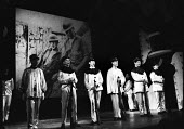 Theatre Workshop production of Oh What A Lovely War! directed by Joan Littlewood at Theatre Royal Stratford East 1963 - Romano Cagnoni - 1960s,1963,ACE,acting,actor,actors,Arts,cities,city,Culture,drama,DRAMATIC,maker,makers,making,male,man,men,musical,Oh What A Lovely War,people,person,persons,play,PLAYING,plays,production,stage,theat