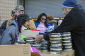 Flint, Michigan, USA. The Muslim Food Pantry distributing free food to anyone who needs it. - Jim West - 18-02-2017