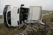 Storm Doris overturns high sided vehicles on a high pass nr Flash in the Peak District National Park, Staffordshire. - Jess Hurd - gales.gale force,2010s,2017,accident,accidental,accidents,accidents at work,CLIMATE,conditions,crash,crashed,damage,damaged,danger,dangerous,dangers,DIA,Doris,Flash,gale,HAULAGE,HAULIER,HAULIERS,hazar