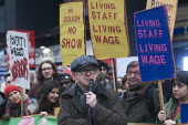 BECTU sector head of Prospect trade union Gerry Morrissey speaking to Picturehouse workers at Ritzy cinemas on 24 hour strike.Rally in Leicester Square the center of the London cinema scene in protest... - Stefano Cagnoni - 26-02-2017