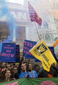 Picturehouse workers at Ritzy cinemas on 24 hour strike, rally in Leicester Square the center of the London cinema scene in protest at the continuing refusal by Cineworld to pay them the London Living... - Stefano Cagnoni - 26-02-2017