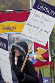 Teaching Assistants strike, picketing outside Durham County Hall. Series of two day strikes to defend their pay and conditions. Durham, County Durham - Mark Pinder - 09-11-2016