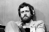Jeremy Corbyn MP in a relaxed mood listening to headphones Labour Party Conference Brighton 1987 - Stefano Cagnoni - 01-10-1987