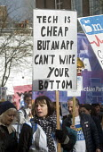 It's Our NHS, National Demonstration to defend the NHS, London. Tech is cheap but an App can't wipe your bottom - Stefano Cagnoni - 04-03-2017