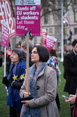 Defend EU Migrants Right to Remain protest during as Parliament votes to trigger Article 50, Parliament Square London - Philip Wolmuth - 13-03-2017