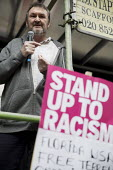Kevin Courtney NUT speaking Stand up to Racism protest, UN Anti Racism Day, London - Jess Hurd - 18-03-2017