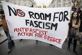 Stand up to Racism protest, UN Anti Racism Day, London. Anti Fascist Action for Greece - Jess Hurd - 18-03-2017