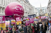 CWU and NUT banners, Stand up to Racism protest, UN Anti Racism Day, London - Jess Hurd - 18-03-2017