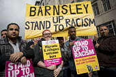 Barnsley Stand up to Racism protest, UN Anti Racism Day, London - Jess Hurd - 2010s,2017,activist,activists,Anti Racism,anti racist,BAME,BAMEs,banner,banners,bigotry,Black,Black and White,BME,bmes,CAMPAIGNING,CAMPAIGNS,DEMONSTRATING,demonstration,DISCRIMINATION,diversity,equal,