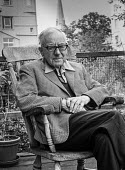 Historian, journalist and broadcaster A J P Taylor at home in London aged 71, 1977 - Peter Arkell - 27-08-1977