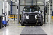 Prototype TX5 production. London Taxi Company opening a new car factory to make TX5 electric Black Cab taxis, Ansty, Coventry. LTC is owned by Chinese car maker Geely - John Harris - 2010s,2017,assembly,AUTO,auto industry,AUTOMOBILE,AUTOMOBILES,automotive,Black Cab,black cabs,Cab,CABS,car,Car Industry,carindustry,cars,cas,charging,charging point,Chinese,cities,City,Company,EBF,Eco