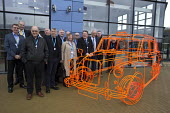 Tony Burke Unite members, London Taxi Company opening a new car factory to make TX5 electric Black Cab taxis, Ansty, Coventry. LTC is owned by Chinese car maker Geely - John Harris - 2010s,2017,auto industry,automotive,Black Cab,black cabs,Cab,CABS,Car Industry,carindustry,cas,Chinese,cities,City,Company,EBF,Economic,Economy,environment,FACTORIES,factory,fuel,Geely,hybrid,London,L