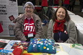 CND Stall, Momentum Inaugural Conference, Birmingham - John Harris - 2010s,2017,activist,activists,age,ageing population,Anti War,Antiwar,Birmingham,CAMPAIGN,Campaign for nuclear disarmament,campaigner,campaigners,CAMPAIGNING,CAMPAIGNS,CND,Conference,conferences,delega