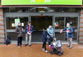 National Day of Action Against Sanctions. Leafleting claimants outside Cheylesmore Jobcentre Coventry. Unite Community say 100,000 claimants have have had their benefits suddenly stopped by sanctions... - John Harris - 2010s,2017,Against,agency,Austerity Cuts,BAME,BAMEs,BEMM,benefit,Benefit cuts,benefit office,benefits,BENIFIT,BENIFITS,BME,bmes,campaign,campaigning,CAMPAIGNS,centre,centres,cities,city,claimant,claim