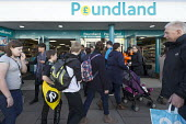 Poundland shop, Stratford upon Avon, Warwickshire - John Harris - 2010s,2017,bought,buy,buyer,buyers,buying,commodities,commodity,consumer,consumers,customer,customers,EBF,Economic,Economy,goods,High St,High Street,LFL,LIFE,outlet,outlets,pedestrian,pedestrians,peop