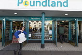 Poundland shop, Stratford upon Avon, Warwickshire - John Harris - 2010s,2017,bought,buy,buyer,buyers,buying,commodities,commodity,consumer,consumers,customer,customers,EBF,Economic,Economy,FEMALE,goods,High St,High Street,LFL,LIFE,outlet,outlets,pedestrian,pedestria
