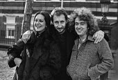 Pete Townsend of The Who (C), Allan Love and Anna Nicholas, Tommy, Queens Theatre, London 1979 stars of the original stage production of the musical Tommy - Martin Mayer - 1970s,1979,ace,acting,actor,actors,actress,actresses,Alan Love,Anna Nicholas,culture,entertainment,London,maker,makers,making,melody,music,MUSICAL,musician,musicians,Pete Townsend,player,players,produ