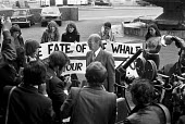 FOE lobby of delegates to the International Whaling Commission to Save the Whales, London 1976. To demand the end of commercial whaling by Russia and Japan - NLA - 21-06-1976