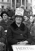 Protest by pensioners demanding that David Ennals, social services minister, raise pensions 1976 - NLA - 13-10-1976