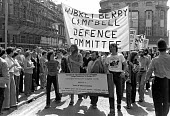 March through Cheltenham to the government listening centre GCHQ 1978 by the ABC campaign to demand the dropping of charges under the Official Secrets Act against Crispin Aubrey, John Berry and Duncan... - NLA - 27-05-1978