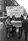ABC protest march. Crispin Aubrey, John Berry and Duncan Campbell, facing charges under the Official Secrets Act in relation to their researches into GCHQ, at the front of a march in their support to... - NLA - 1970s,1978,ABC trial,activist,activists,banner,banners,CAMPAIGN,campaigner,campaigners,CAMPAIGNING,CAMPAIGNS,Crispin Anbrey,DEMONSTRATING,Demonstration,DEMONSTRATIONS,deportation,deporting,Duncan Camp