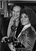 Johnny Dankworth with Cleo Laine. Joint Show Business Personality of the Year Award of 1977 - Peter Arkell - 07-02-1977