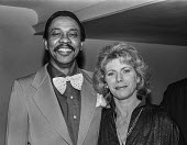Billie Whitelaw with Norman Beaton at the Variety Club Awards - Peter Arkell - 1970s,1978,ACE,ACTING,Actor,actors,actress,actresses,Arts,Awards,BAME,BAMEs,Billie Whitelaw,Black,Black and White,BME,bmes,Culture,diversity,ethnic,ethnicity,male,man,men,minorities,minority,multi cul