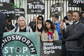 Stop Bombing Syria, Stop The War Coalition protest, Downing Street, London - Philip Wolmuth - 07-04-2017