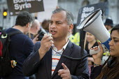 Murad Qureshi, Stop The War Coalition, Stop Bombing Syria protest, Downing Street, London - Philip Wolmuth - 2010s,2017,activist,activists,Anti War,Antiwar,BAME,BAMEs,Black,BME,bmes,BOMB,Bombing,bombings,BOMBS,CAMPAIGN,campaigner,campaigners,CAMPAIGNING,CAMPAIGNS,Coalition,DEMONSTRATING,demonstration,DEMONST