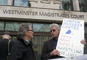 Vigil outside Westminster Magistrates Court in solidarity with family of Rene Tka'cik killed by falling concrete while working on the Crossrail project following an alleged breach of health and safety... - Stefano Cagnoni - 12-04-2017