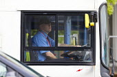 Bus driver, Stratford-upon-Avon, Warwickshire - John Harris - 2010s,2017,bus,bus service,Bus Stop,buses,driver,drivers,driving,EBF,Economic,Economy,employee,employees,Employment,job,jobs,journey,journeys,LBR,male,man,men,passenger,passengers,people,person,person