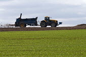 Muck spreading, Warwickshire - John Harris - 2010s,2017,agricultural,agriculture,Ammonia gas,capitalism,crop,crops,driver,drivers,driving,EBF,Economic,Economy,emissions,employee,employees,Employment,eni,environment,Environmental degradation,envi