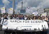 March For Science, London. International protest on Earth Day against global political questioning of facts and for protection of the environment - Stefano Cagnoni - 2010s,2017,activist,activists,against,banner,banners,CAMPAIGN,campaigner,campaigners,CAMPAIGNING,CAMPAIGNS,DEMONSTRATING,demonstration,DEMONSTRATIONS,environment,Environmental degradation,FEMALE,March