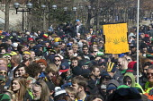 Ann Arbor, Michigan - The annual Hash Bash at the University of Michigan, where a lot of marijuana is smoked and protesters call for its legalization. - Jim West - 04-04-2015