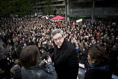 Jean Luc Melenchon, presidential election candidate for La France Insoumise, rally, Paris, France - Nicolas Messyasz - 2010s,2017,campaign,campaigning,CAMPAIGNS,candidate,candidates,cities,City,DEMOCRACY,election,elections,EU,Europe,european,European Union,europeans,eurozone,france,french,male,man,men,Paris,people,per