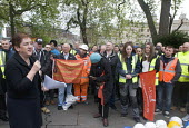 Mary Bousted Gen Sec ATL speaking, International Workers Memorial Day, Tower Hill, London to commemorate those who have been injured or lost their lives at work - Stefano Cagnoni - 28-04-2017
