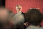 Jeremy Corbyn MP speaking, Labour Party election press conference, Tower Hamlets, London - Philip Wolmuth - 29-04-2017