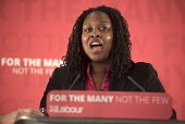 Dawn Butler MP speaking at a Labour Party election press conference, Tower Hamlets, London. - Philip Wolmuth - 2010s,2017,BAME,BAMEs,black,BME,bmes,CAMPAIGN,campaigning,CAMPAIGNS,conference,conferences,Dawn,democracy,diversity,election,election campaign,elections,ethnic,ethnicity,FEMALE,general election,Labour