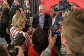 Jeremy Corbyn MP with supporters and press, Labour Party election press conference, Tower Hamlets, London - Philip Wolmuth - 29-04-2017