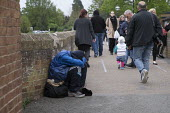 Homeless youth on the street, Stratford upon Avon, Warwickshire - John Harris - 2010s,2017,abject,beg,beggar,beggars,BEGGER,begging,begs,bored,boredom,boring,demoralised,demoralized,depressed,depression,despair,despondent,disinterested,disturbed,excluded,exclusion,HARDSHIP,Homele