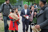 Tulip Siddiq with her daughter Azalea and London Mayor Sadiq Khan launching her general campaign for Hampstead and Kilburn, the tenth most marginal Labour parliamentary seat in the UK. Swiss Cottage,... - Philip Wolmuth - 2010s,2017,BAME,BAMEs,black,black and minority ethnic,BME,bmes,campaign,campaigning,CAMPAIGNS,candidate,candidates,Cottage,COTTAGES,daughter,DAUGHTERS,democracy,diversity,election,elections,ethnicity,