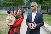 Tulip Siddiq with her daughter Azalea and London Mayor Sadiq Khan launching her general campaign for Hampstead and Kilburn,, the tenth most marginal Labour parliamentary seat in the UK. Swiss Cottage,... - Philip Wolmuth - 2010s,2017,BAME,BAMEs,black,black and minority ethnic,BME,bmes,campaign,campaigning,CAMPAIGNS,candidate,candidates,Cottage,COTTAGES,daughter,DAUGHTERS,democracy,diversity,election,elections,ethnicity,