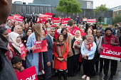 Tulip Siddiq, London Mayor Sadiq Khan and women supporters launching her general campaign to retain Hampstead and Kilburn, the tenth most marginal Labour parliamentary seat in the UK. Swiss Cottage, L... - Philip Wolmuth - 2010s,2017,BAME,BAMEs,black,black and minority ethnic,BME,bmes,campaign,campaigning,CAMPAIGNS,candidate,candidates,Cottage,COTTAGES,democracy,diversity,election,elections,ethnicity,FEMALE,general elec