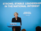 Theresa May Conservatives speaking to supporters, General election campaign, Linskill Centre, North Shields - Mark Pinder - 12-05-2017