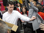 Journalists enthusiastically grabbing the support document and manifesto, Labour Party General Election 2017 manifesto launch, Bradford - Mark Pinder - 2010s,2017,campaign,campaigning,CAMPAIGNS,DEMOCRACY,election,elections,employee,employees,Employment,General Election,Jeremy Corbyn,job,jobs,journalism,journalist,journalists,Labour Party,launch,LBR,m