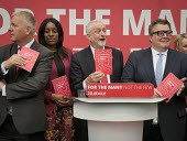 Jeremy Corbyn with members of the shadow cabinet, Jeremy Corbyn, Labour Party General Election 2017 manifesto launch, Bradford - Mark Pinder - 16-05-2017